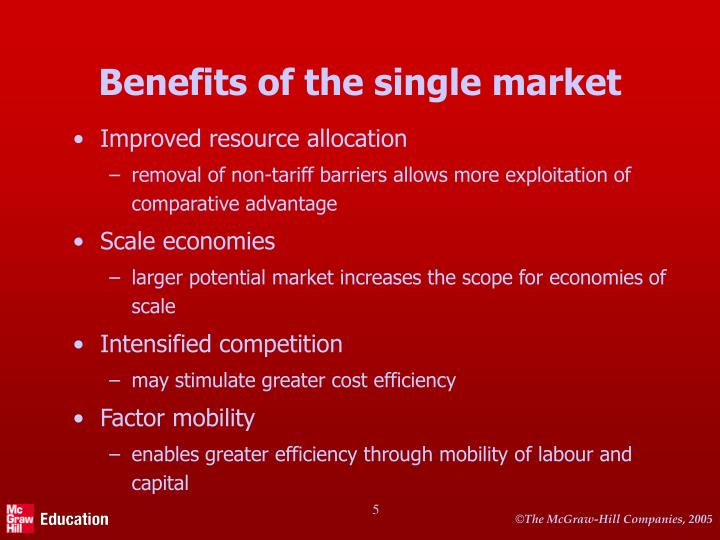 Benefits of the single market
