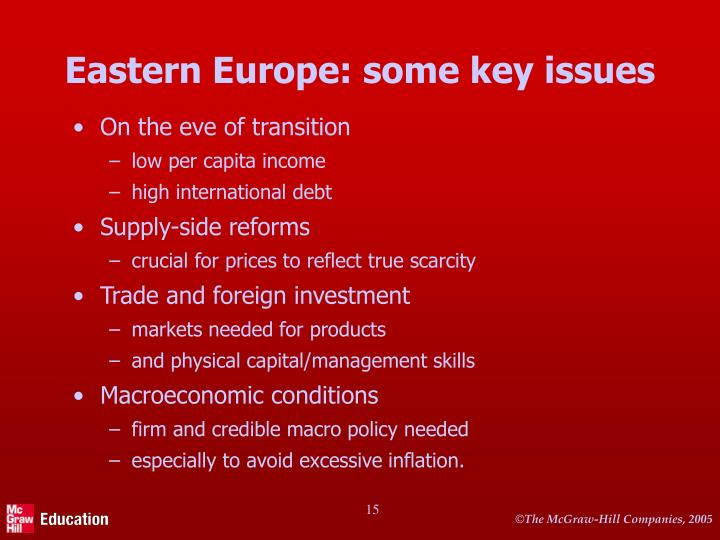 Eastern Europe: some key issues