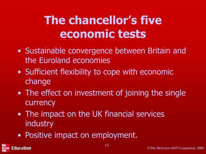 The chancellor's five economic tests