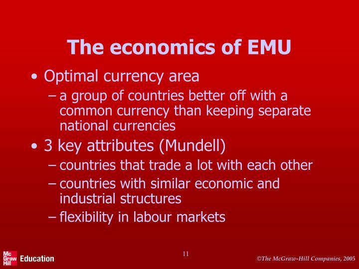 The economics of EMU