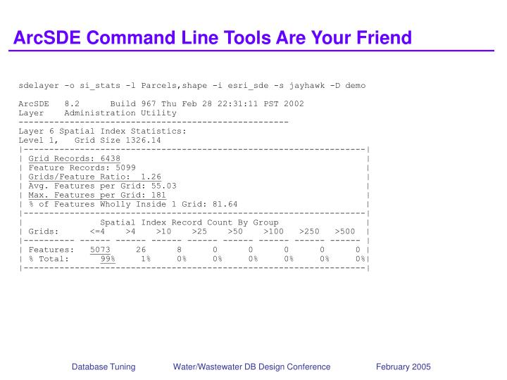 ArcSDE Command Line Tools Are Your Friend