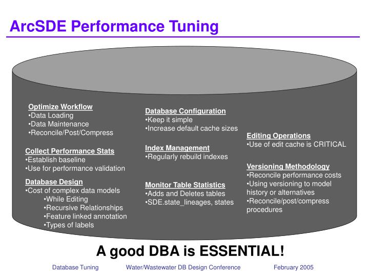 ArcSDE Performance Tuning