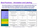 best practices annotation and labeling