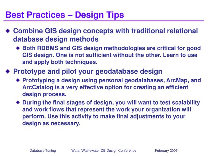 Best Practices – Design Tips