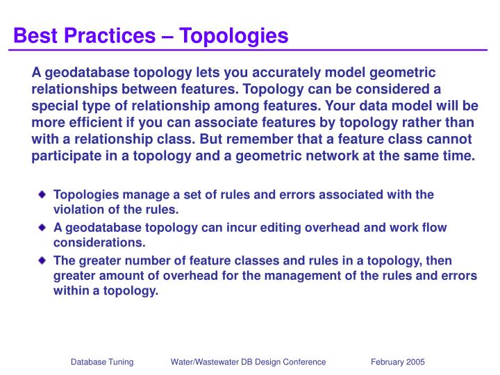 Best Practices – Topologies