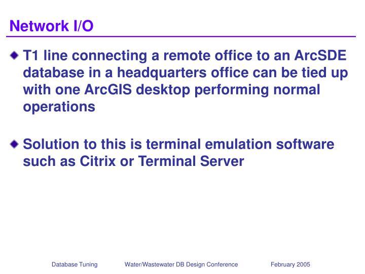 Network I/O