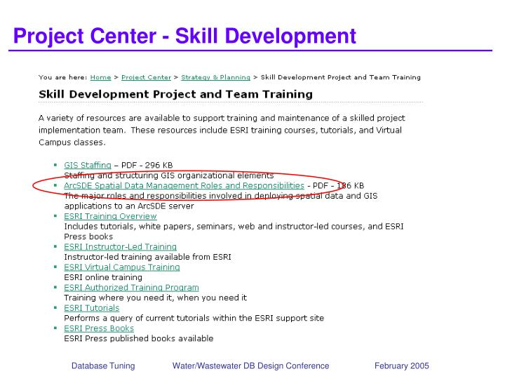 Project Center - Skill Development