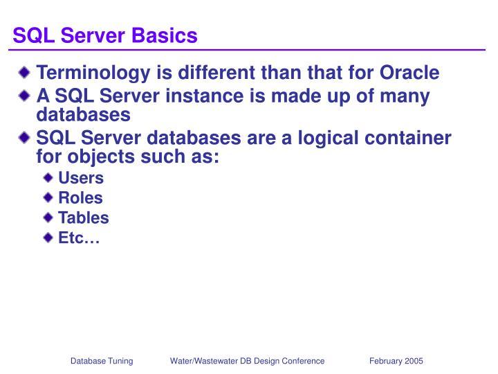 SQL Server Basics
