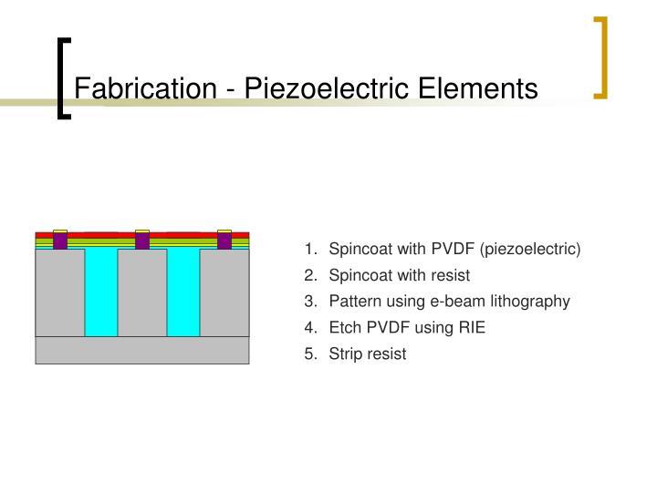 Fabrication - Piezoelectric Elements