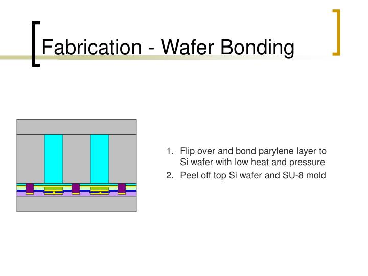 Fabrication - Wafer Bonding