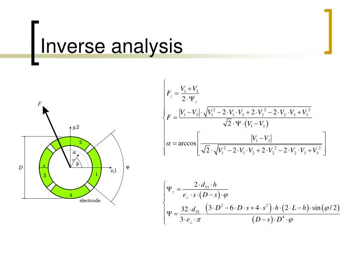 Inverse analysis