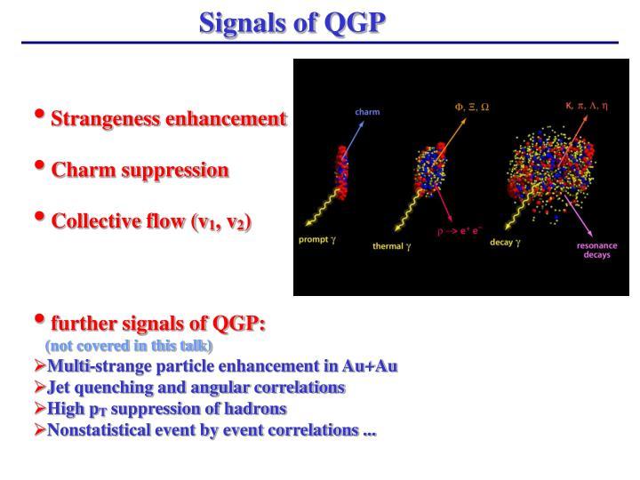 Signals of QGP