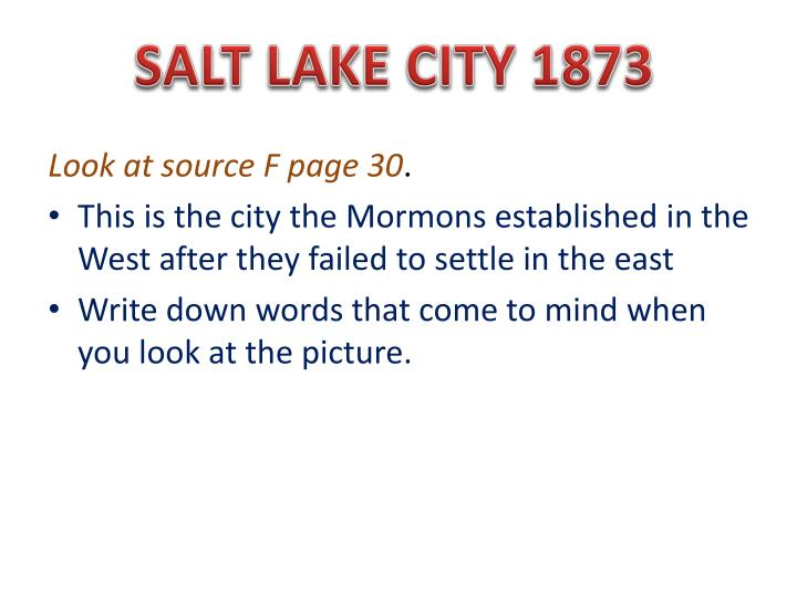 SALT LAKE CITY 1873