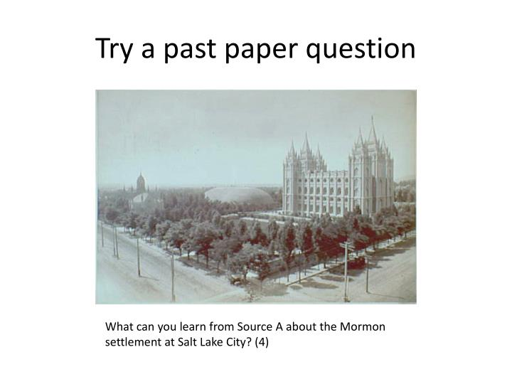 Try a past paper question