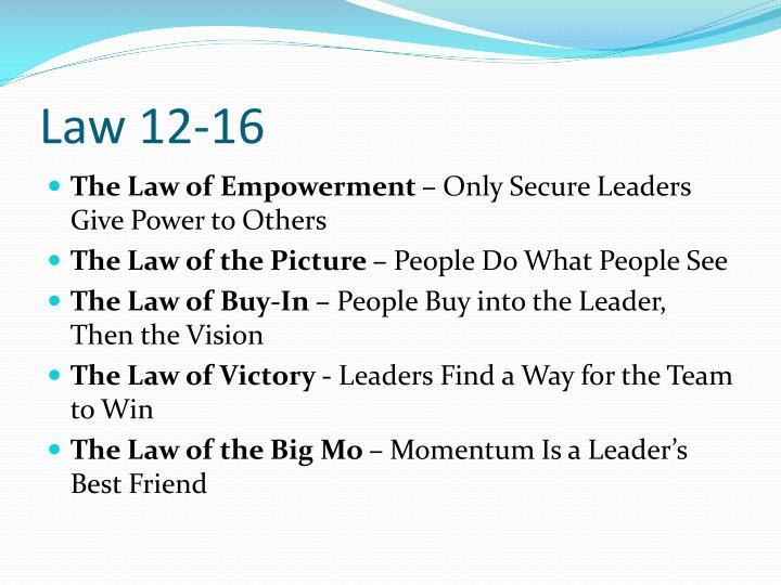 Law 12-16