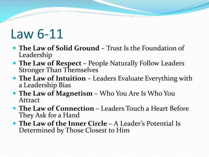 Law 6-11