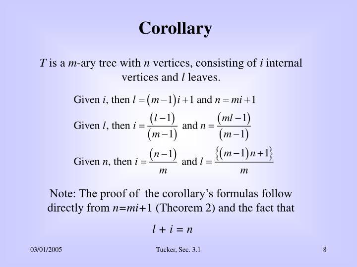 Corollary