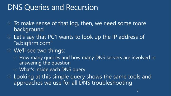 DNS Queries and Recursion