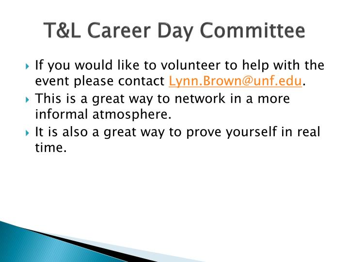 T&L Career Day Committee