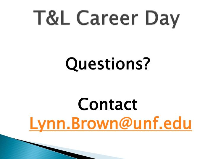 T&L Career Day