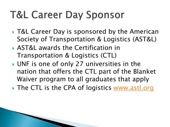 T&L Career Day Sponsor