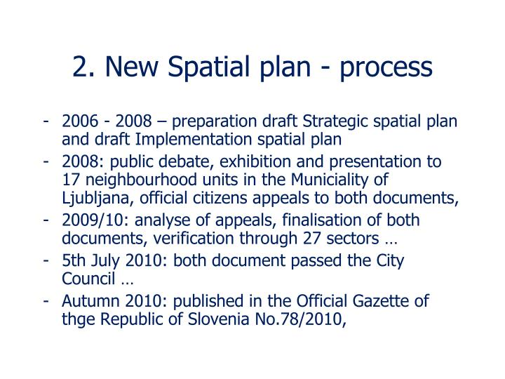 2. New Spatial plan - process