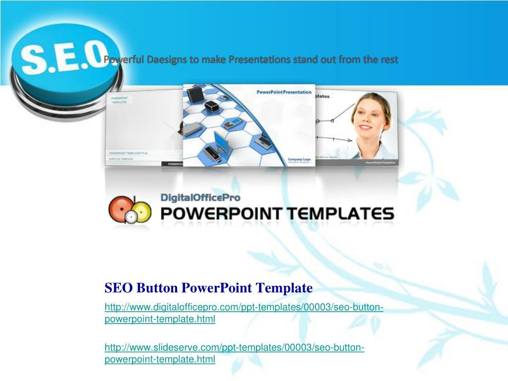 SEO Button PowerPoint Template