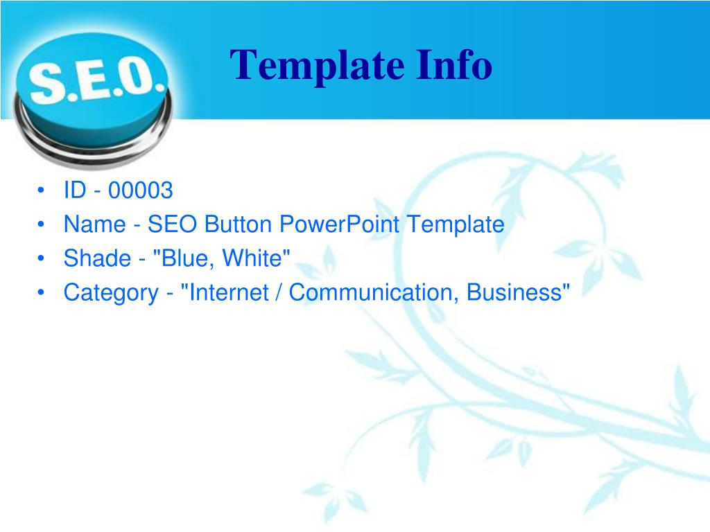 Template Info