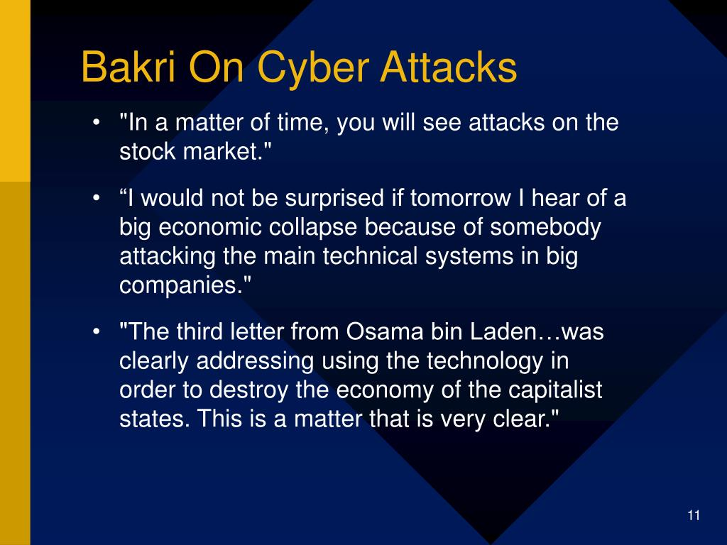 Bakri On Cyber Attacks