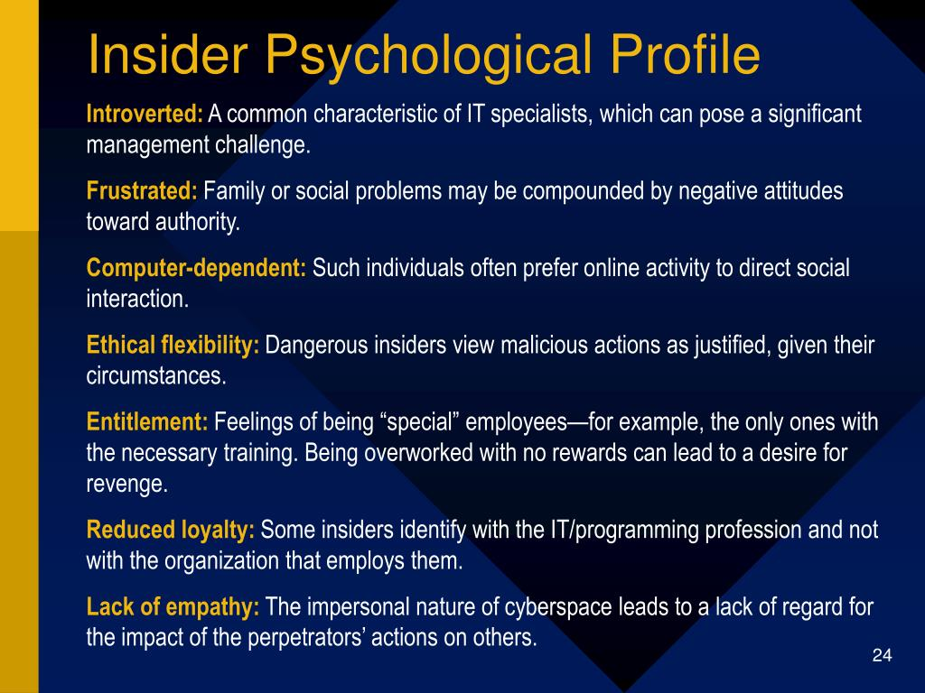 Insider Psychological Profile