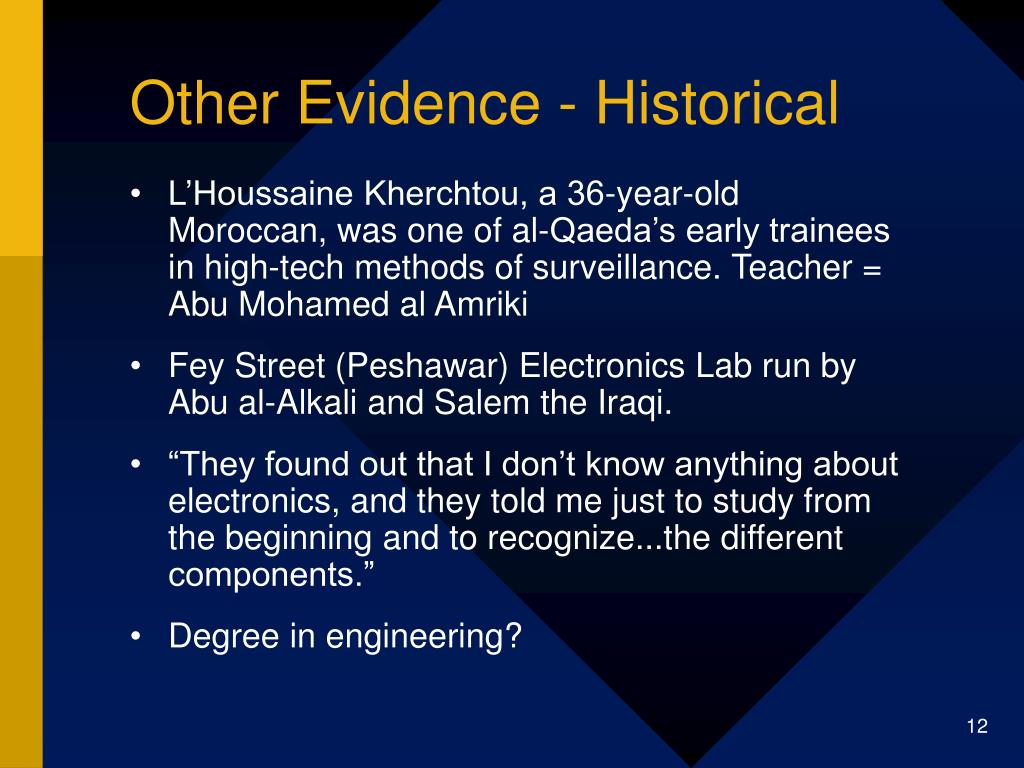 Other Evidence - Historical