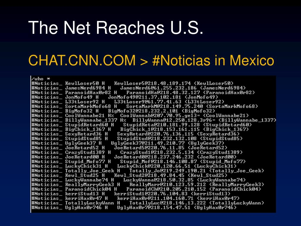 The Net Reaches U.S.