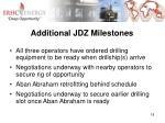 additional jdz milestones