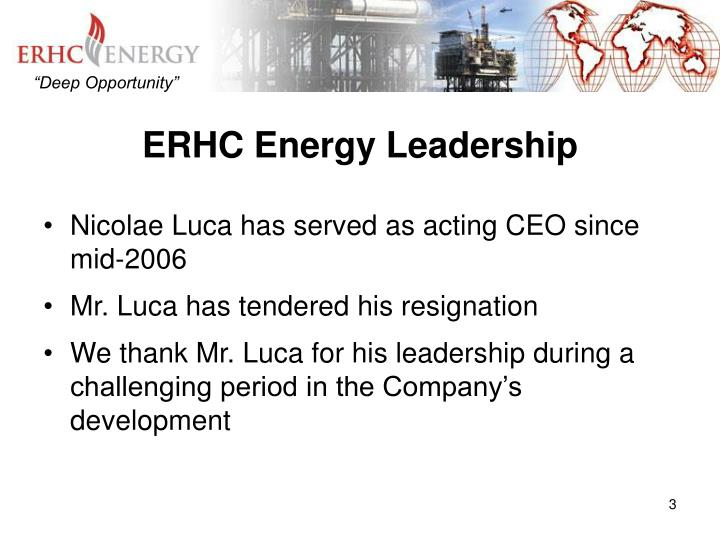 Erhc energy leadership