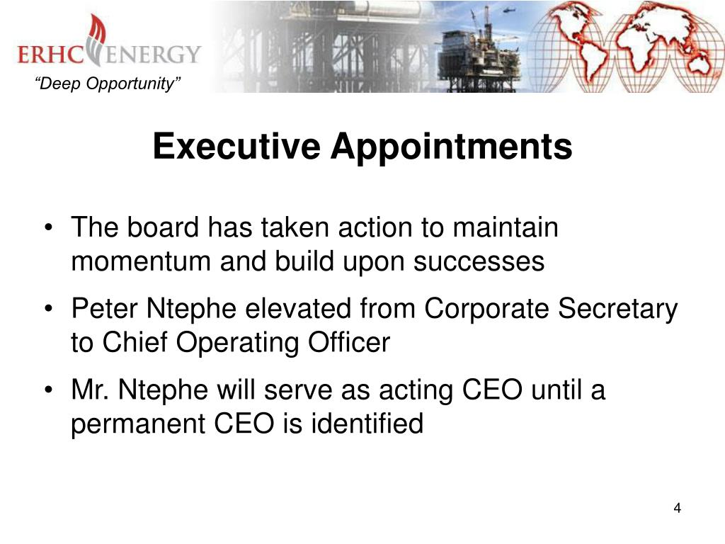 Executive Appointments