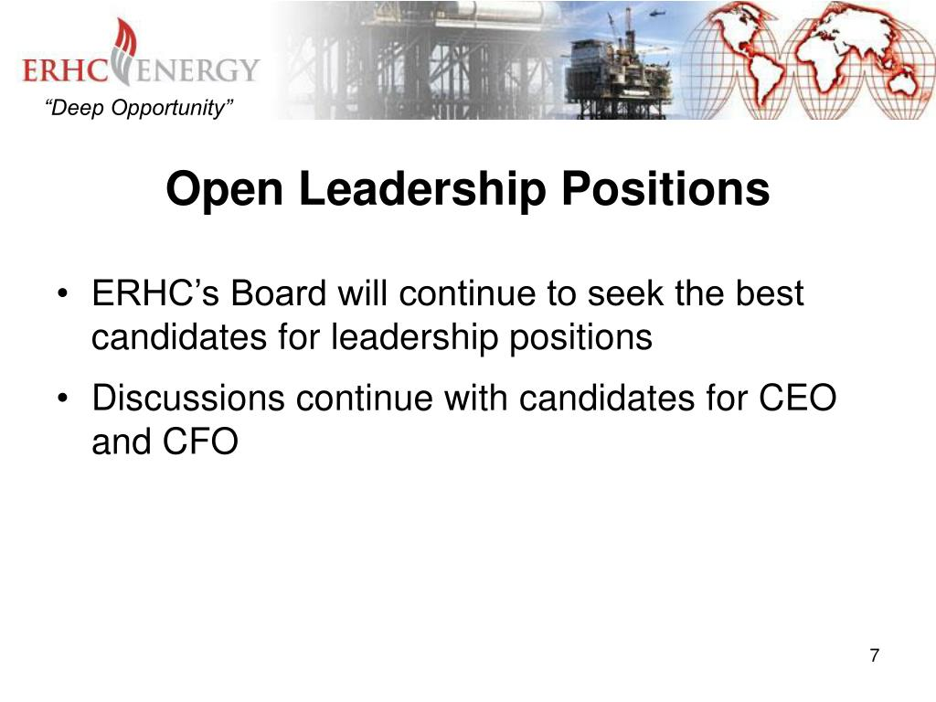 Open Leadership Positions