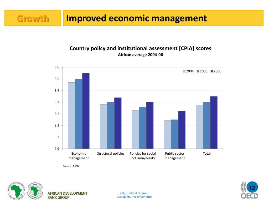 Improved economic management