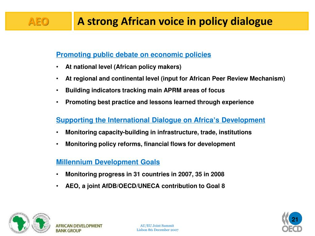 A strong African voice in policy dialogue