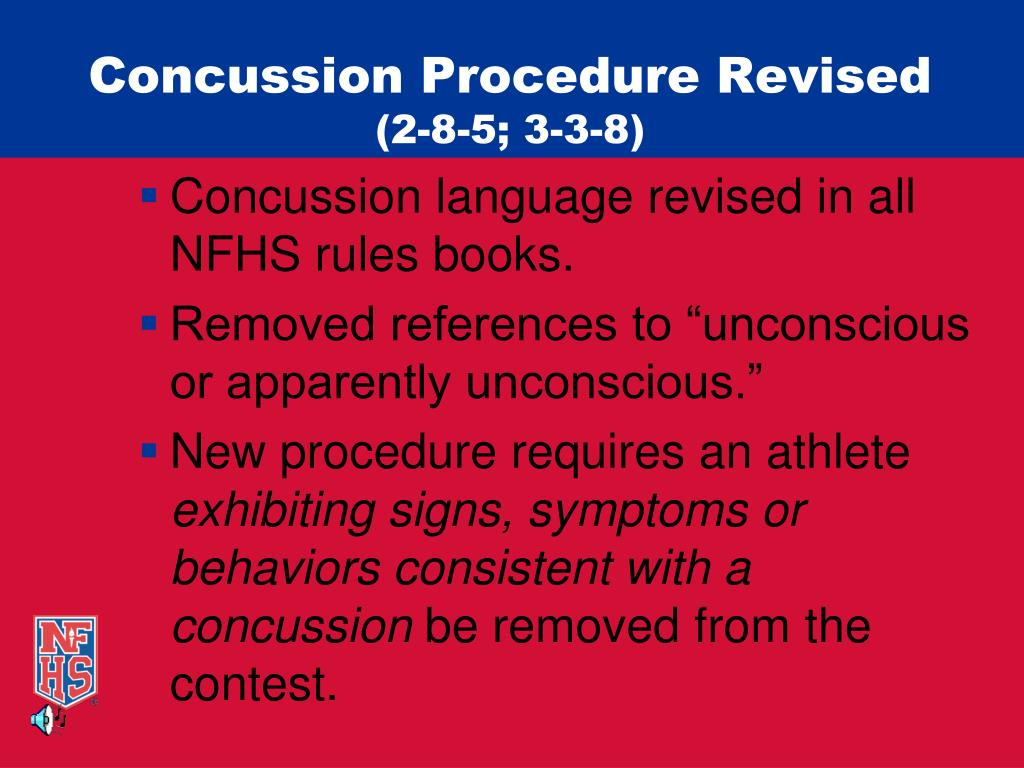 Concussion Procedure Revised
