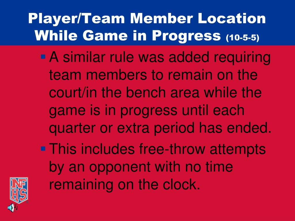 Player/Team Member Location While Game in Progress