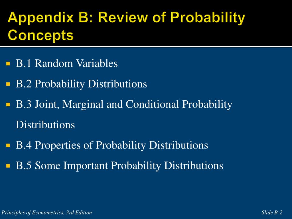 Appendix B: Review of Probability Concepts