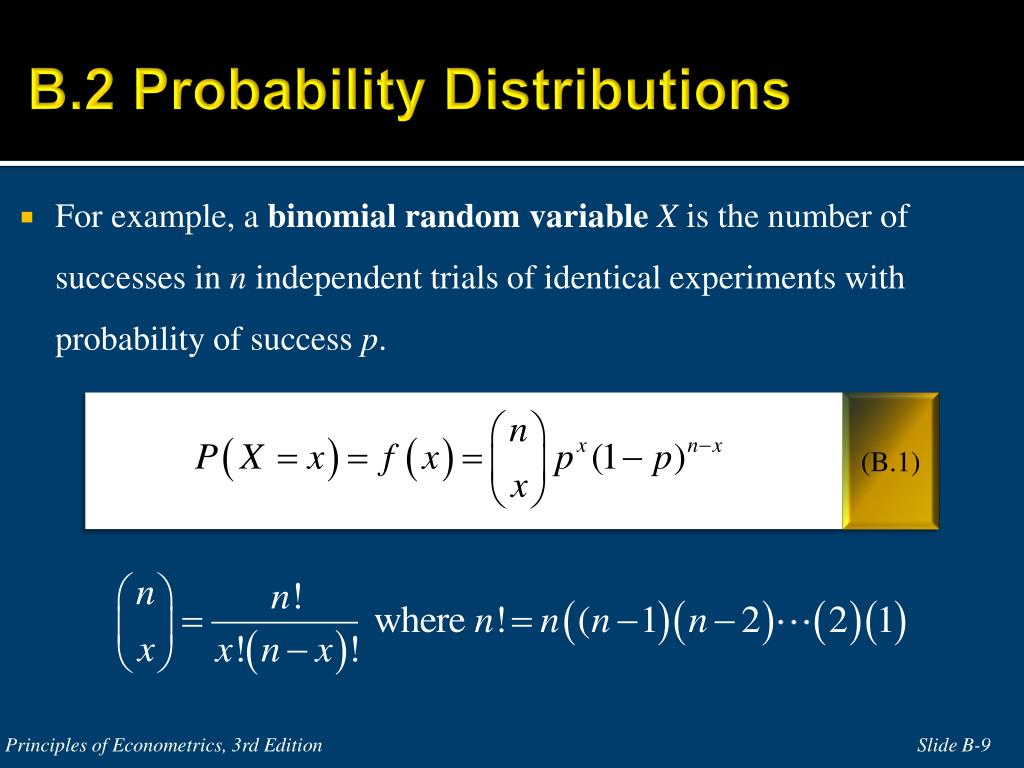 B.2 Probability Distributions
