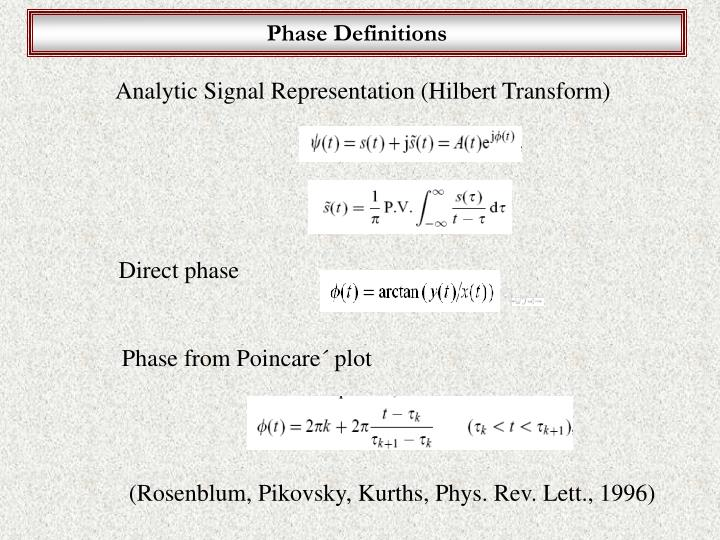 Phase Definitions