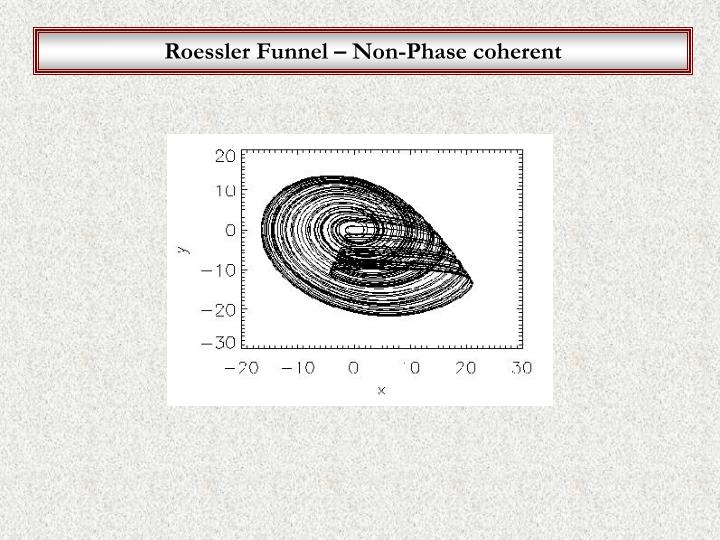 Roessler Funnel – Non-Phase coherent