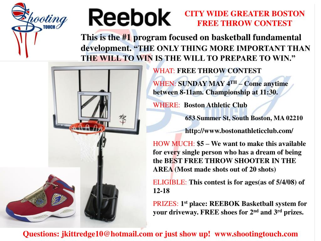 CITY WIDE GREATER BOSTON FREE THROW CONTEST