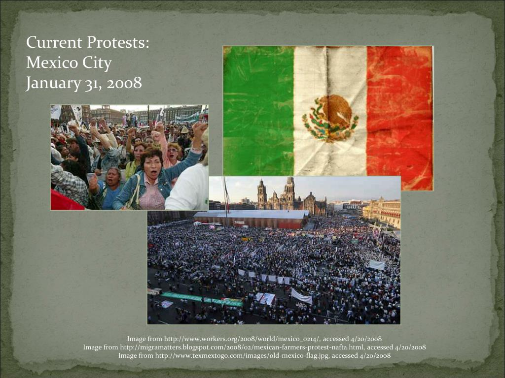 Current Protests: Mexico City