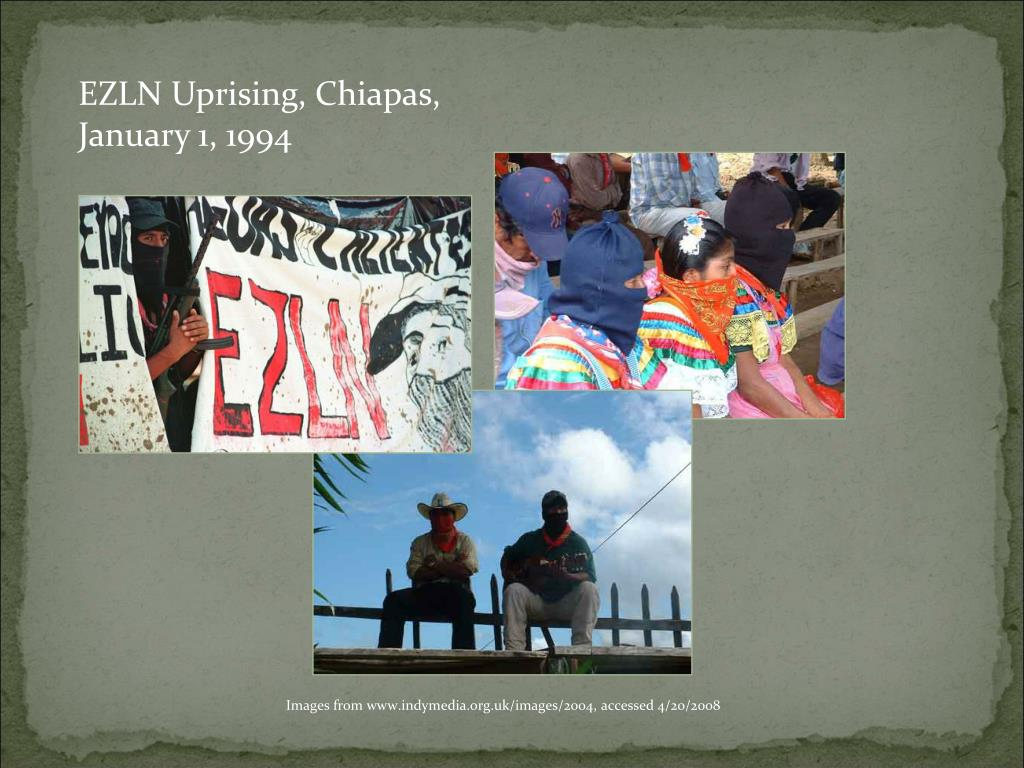 EZLN Uprising, Chiapas, January 1, 1994