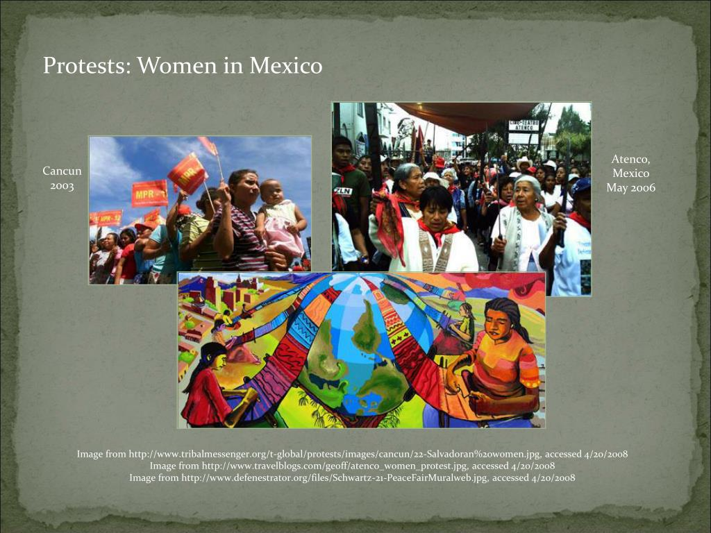 Protests: Women in Mexico