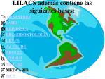 lilacs adem s contiene las siguientes bases