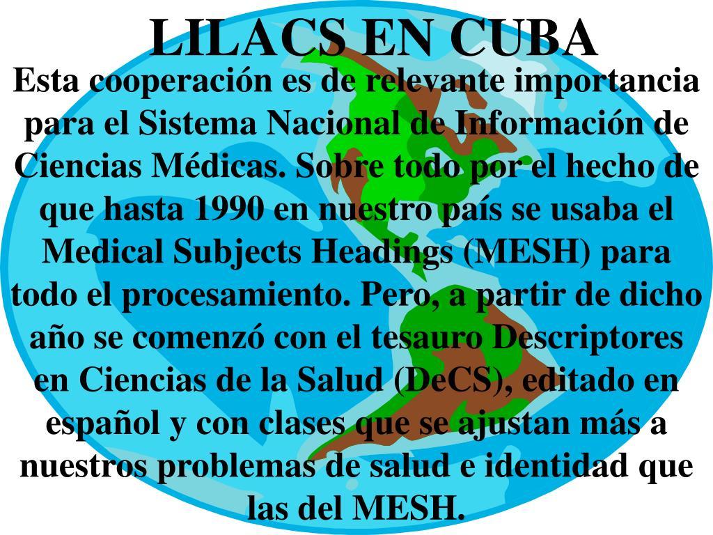 LILACS EN CUBA
